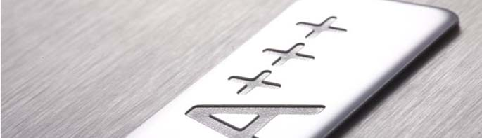 three-dimensional hybrid refrigerator emblem